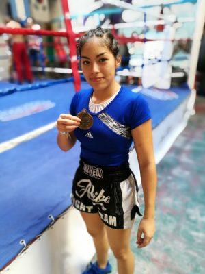 gewinnt zuerst Catalina Argüello, argentinische Kickbox-Meisterin